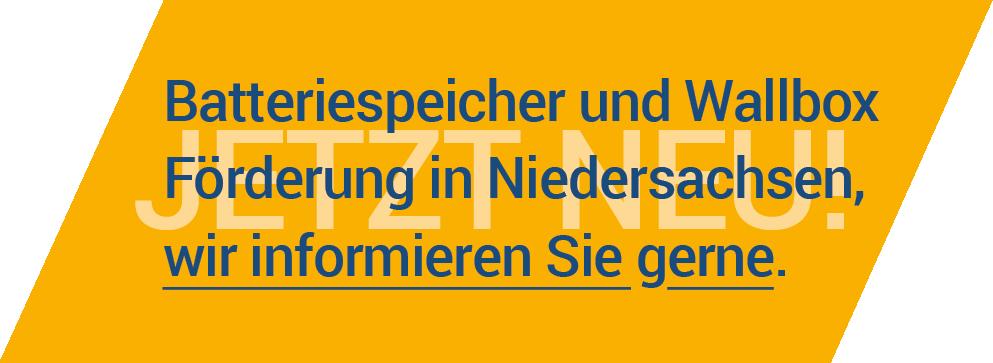 Batteriespeicher Förderung Niedersachsen
